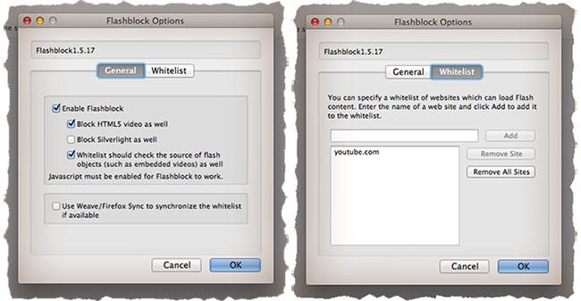 Отключаем поддержку flash в frefox