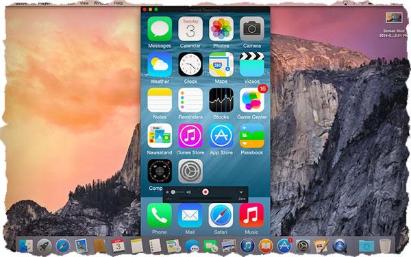 Запись экрана iPhone с помощью yosemite
