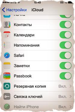 Сервисы iCloud