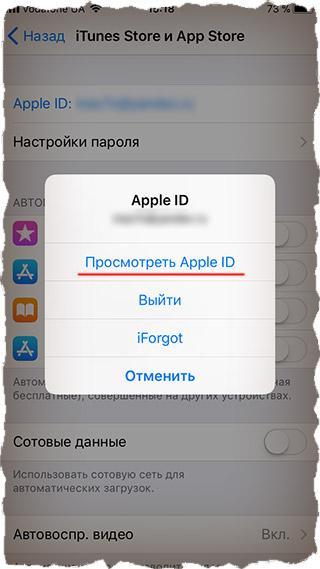 Просмотр покупок в AppStore на iPhone