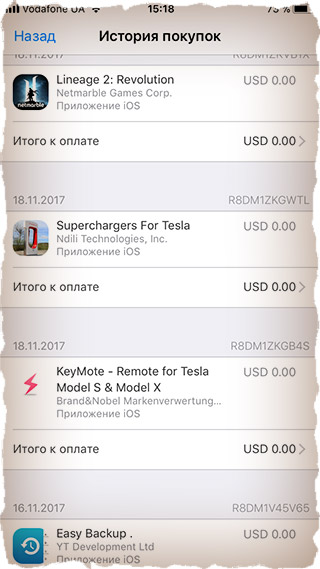 Приложения, которые были куплены на iPad