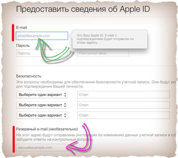 Подтверждение Apple ID