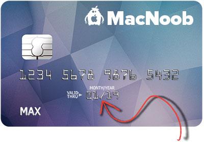 MacNoob credit card