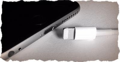 Подключите iPhone к зарядке