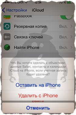 Очистка iPhone при продаже