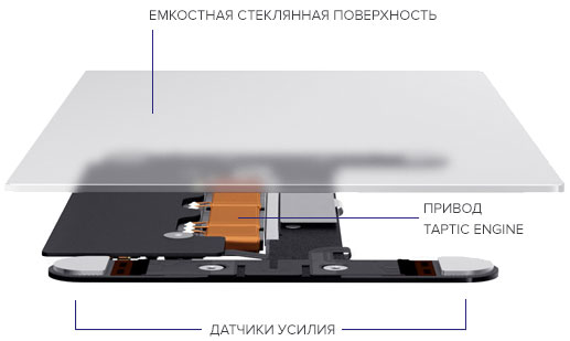 Технология Force Touch в трекпаде MacBook