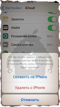 Оставляем контакты на iPhone