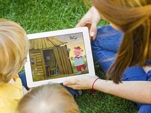 Сказки для детей на планшете