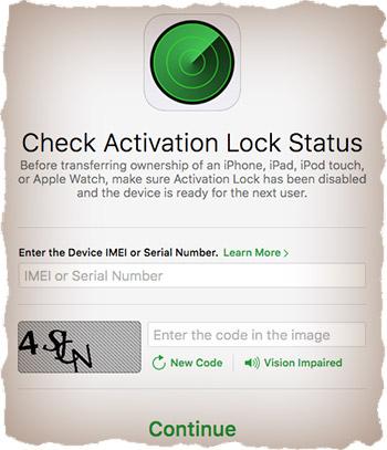 Проверка наличия Activation Lock