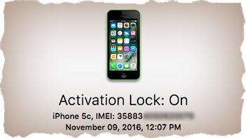 На iPhone включена блокировка активации