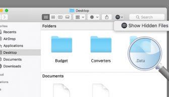 скрытые файлы в macOS