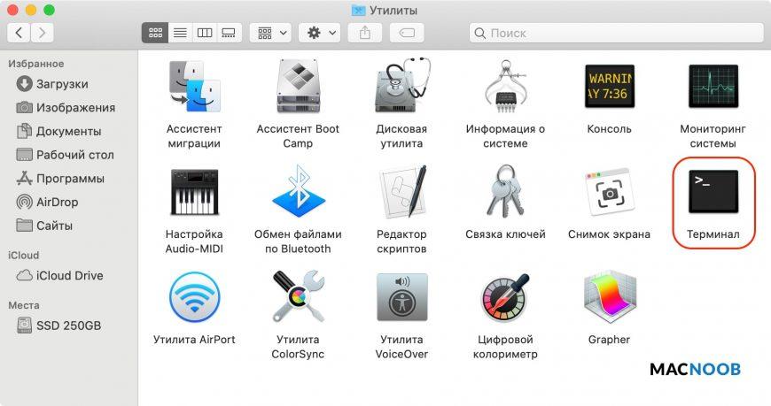 приложение терминал mac