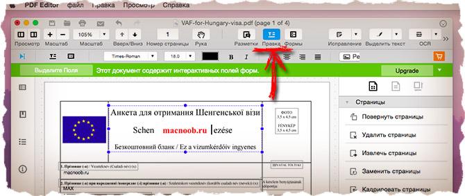 Как редактировать текст в PDF документе