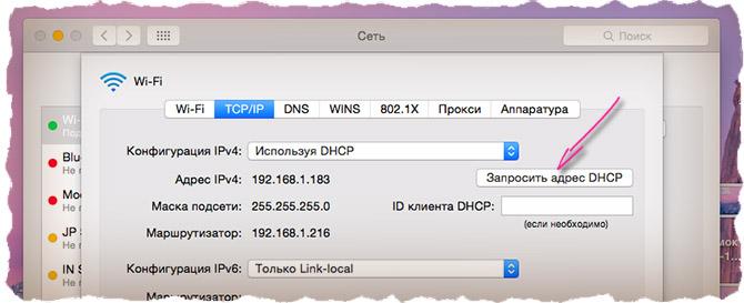 Обновляем DHCP