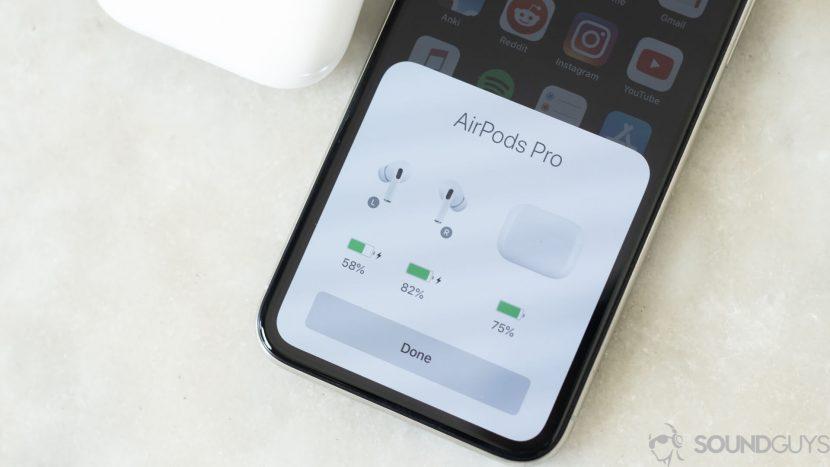 Подключение AirPods Pro