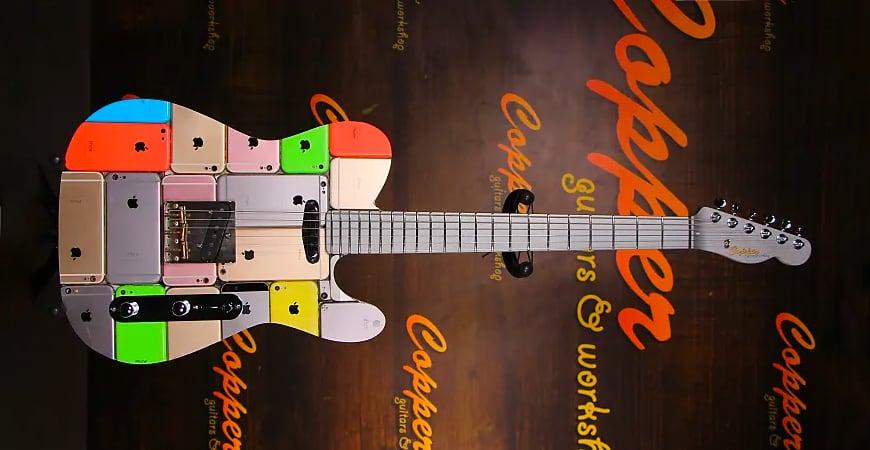 Гитара из 107 iPhone