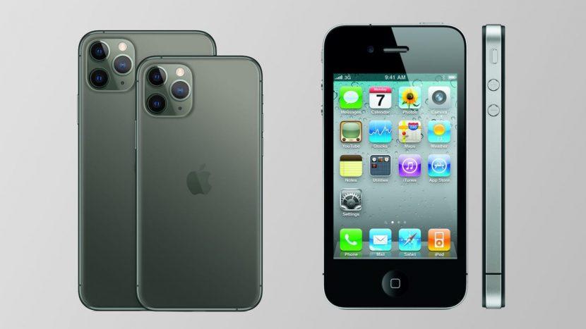 Дизайн iPhone 12 и iPhone 4