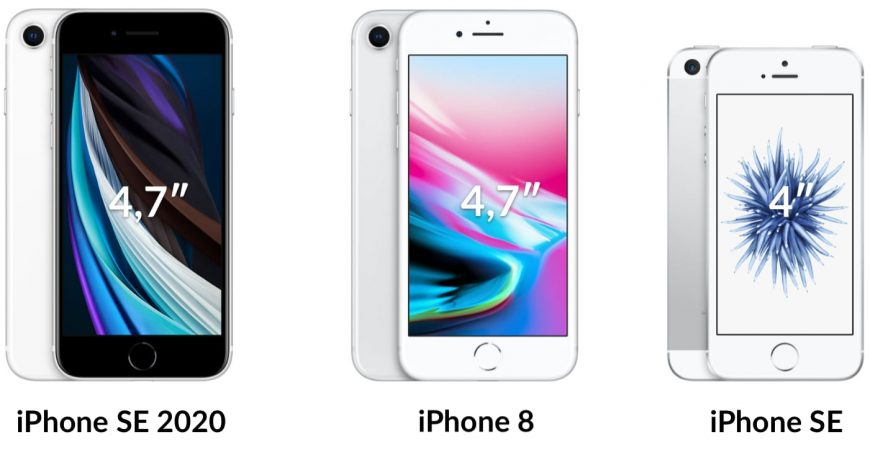 iPhone SE 2020 vs 8 vs SE