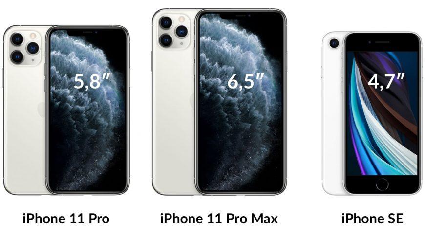 iPhone SE 2020 vs 11 Pro vs 11 Pro Max