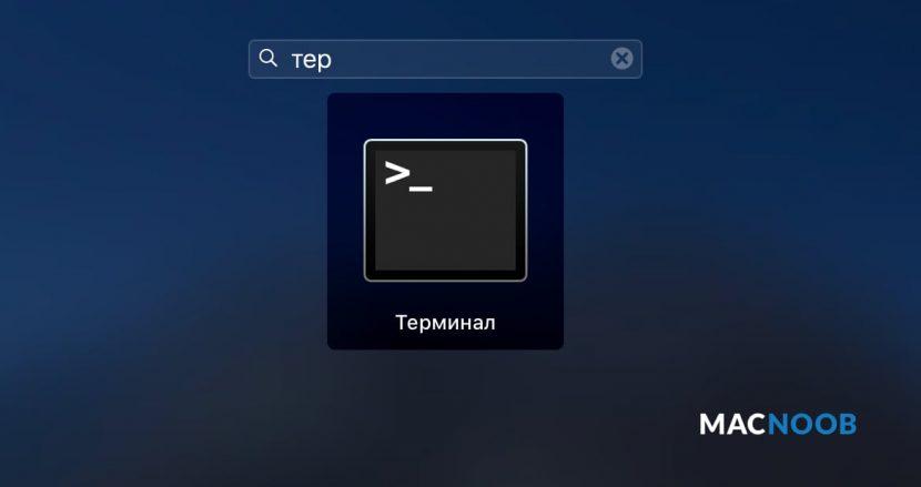 приложение Терминал