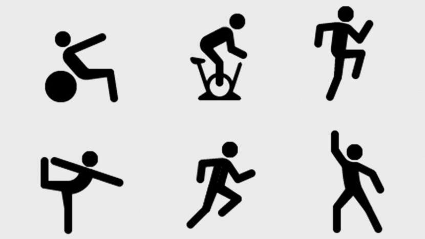 иконки тренировок на Apple Fitness