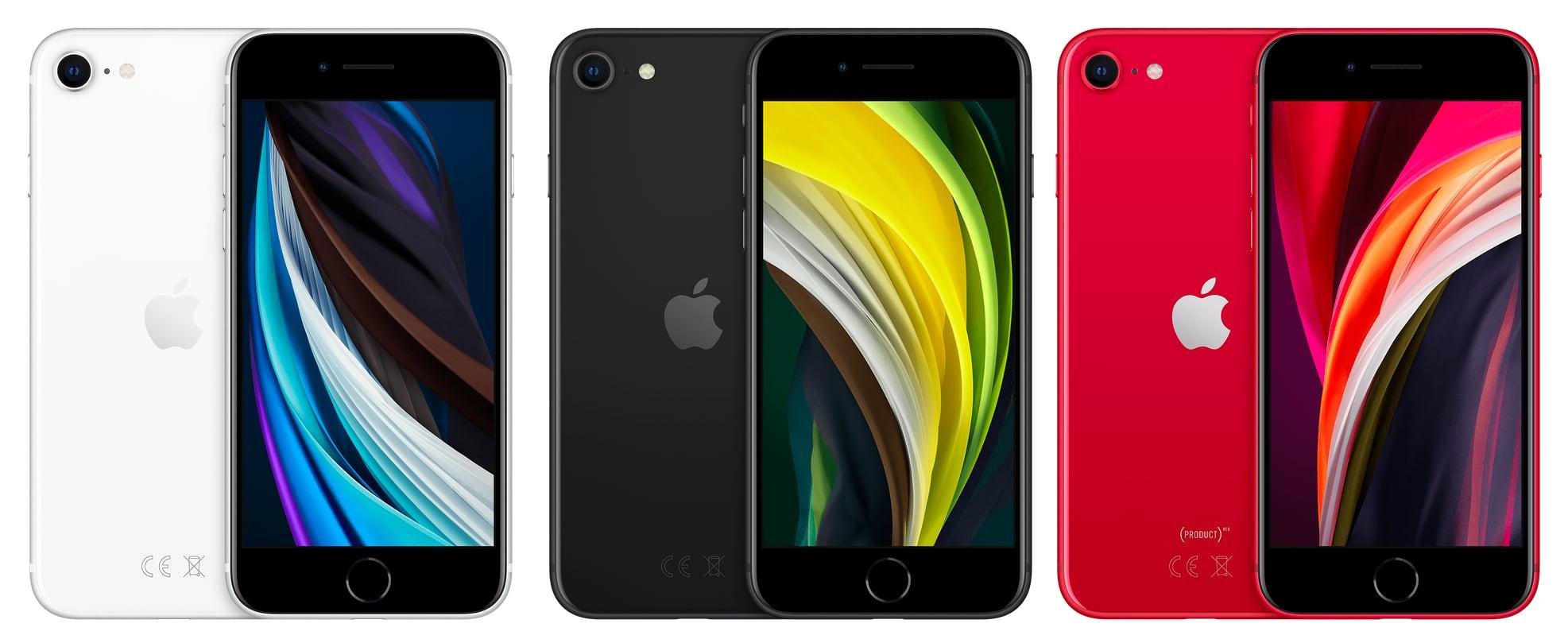 цвета iPhone SE 2020