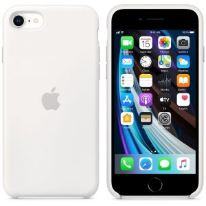 белый силиконовый чехол Product Red для iPhone SE 2 поколения