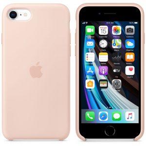 розовый силиконовый чехол Product Red для iPhone SE 2 поколения