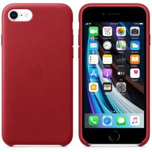 красный кожаный чехол Product Red для iPhone SE 2 поколения