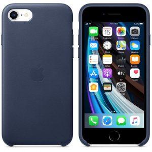 тёмно-синий кожаный чехол Product Red для iPhone SE 2 поколения