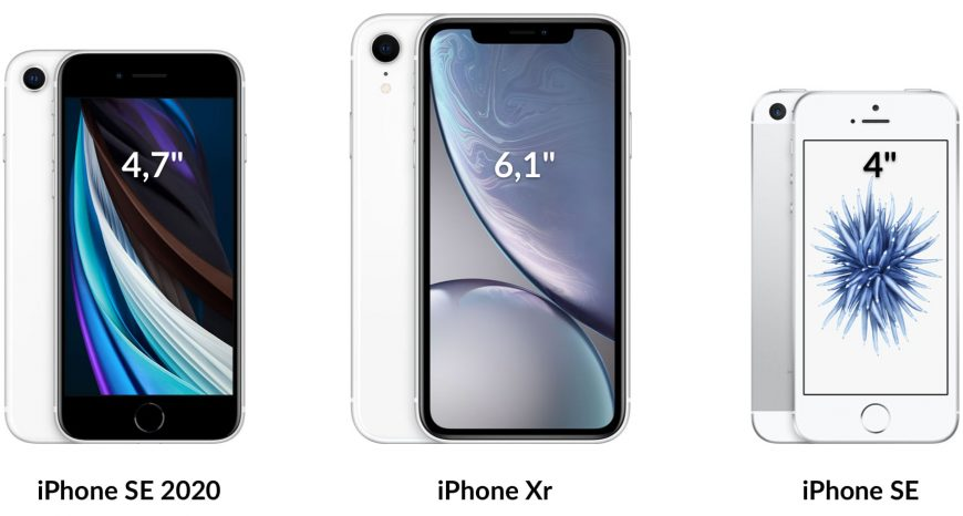 iPhone SE 2020 vs Xr vs SE 2018
