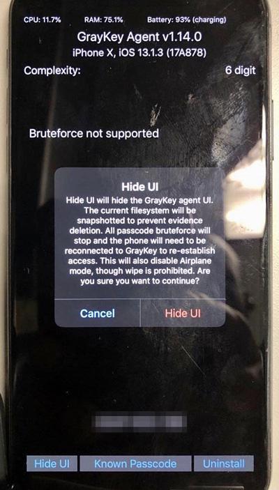 Взлом Айфон через Hide UI