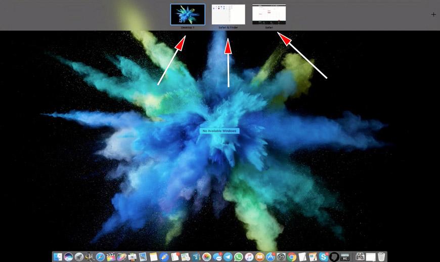 Spaces на Mac OS