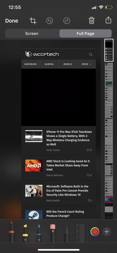 Скриншот веб-страницы на всю длину