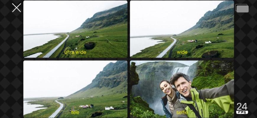 DoubleTake съемка на 2 камеры