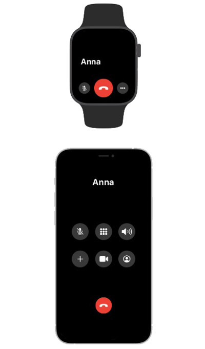 Звонок по Apple Watch