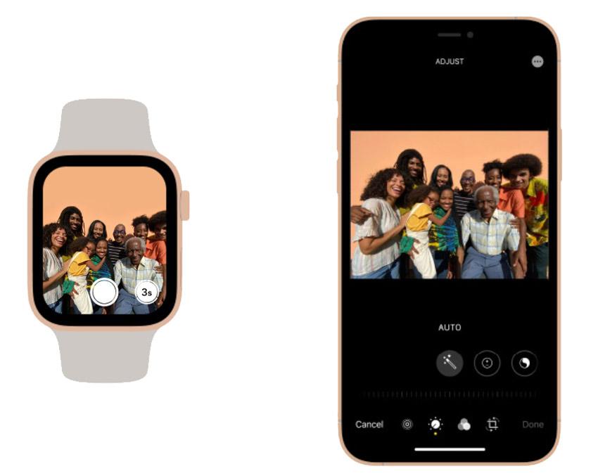 Управление камерой на Apple Watch