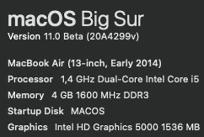 Спецификация MacBook Air