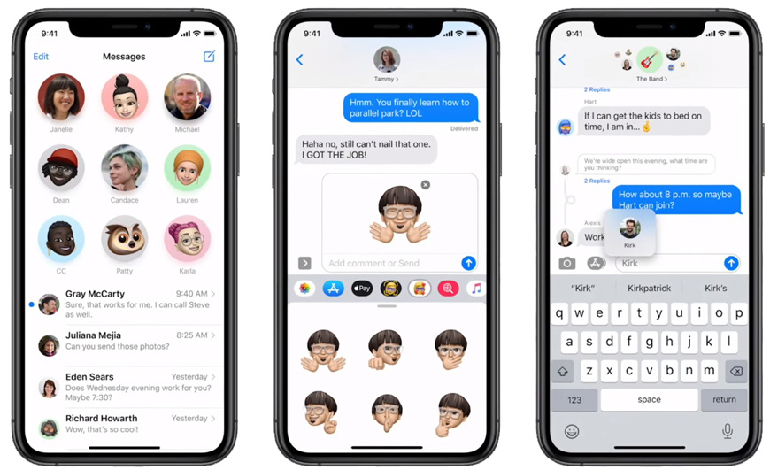 новое в iMessages на iOS 14