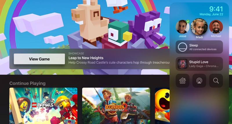 Смена пользователя на Apple TV