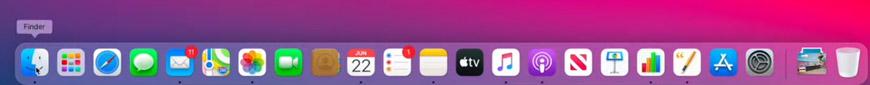 Новые иконки панели Dock