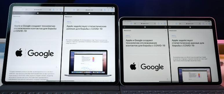 Планшеты Apple размер экрана