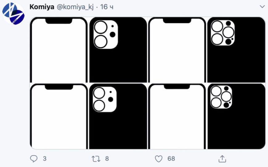 Блок камер в iPhone 12 Pro