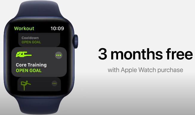 Apple Fitness+ первые 3 месяца бесплатно