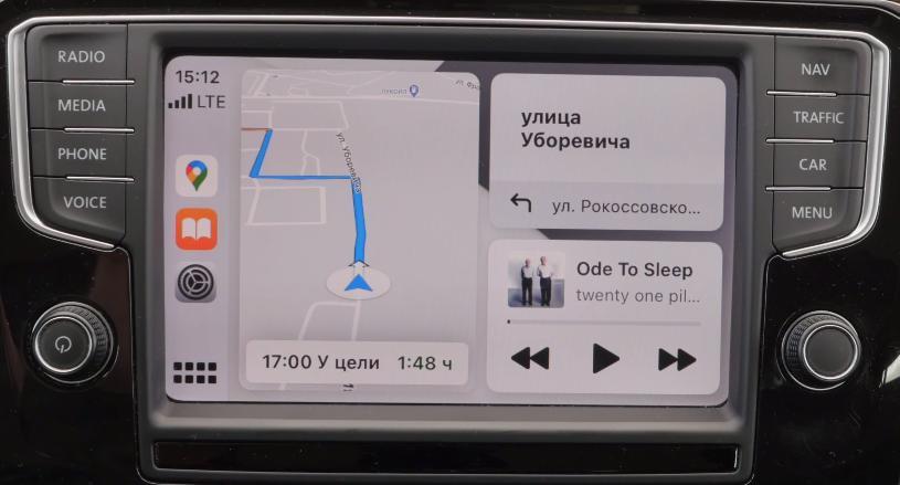 Карты Гугл на CarPlay