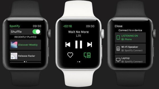 Spotify и часы Apple Watch