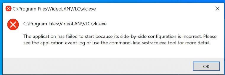 VLC не запускается