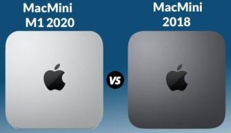 Сравнение Mac mini 2020 на M1 и Mac mini на intel