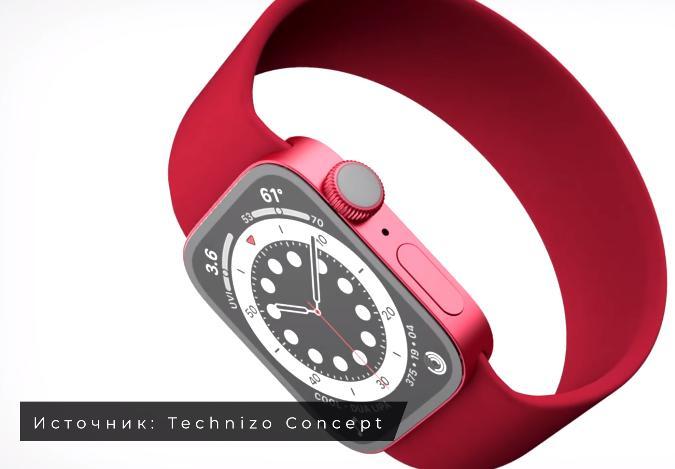 Дизайн Apple Watch 7