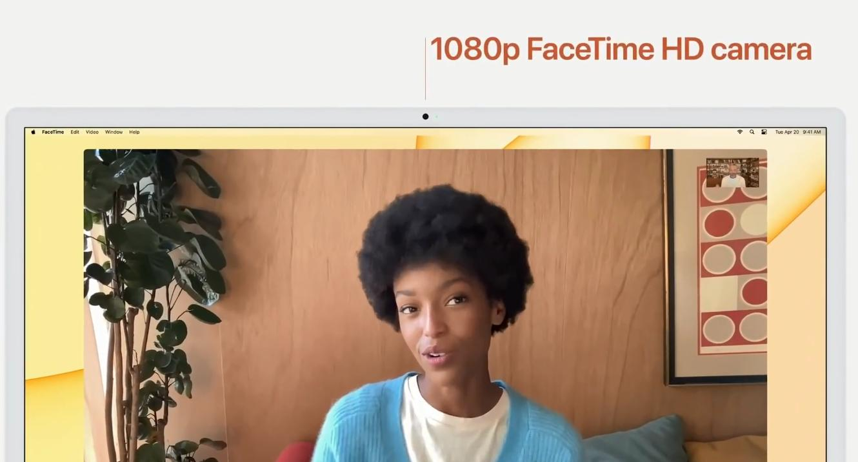 Фронтальная камера iMac 2021